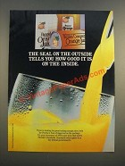 1986 Florida Department of Citrus Orange Juice Ad - The Seal on the Outside