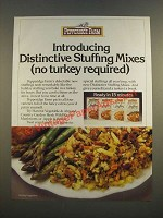 1986 Pepperidge Farm Distinctive Stuffing Mixes Ad - No Turkey Required