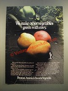 1986 The Potato Board Ad - We Make Other Vegetables Green With Envy
