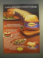1986 Butterball Slice 'N Serve Turkey Breast Ad - Without Cooking