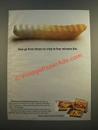 1986 Ore-Ida Microwave Fries Ad - From Frozen to Crisp in Four Minutes