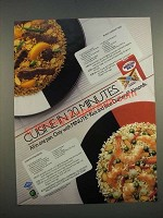 1986 Minute Rice Ad - Peach Harvest Beef and Shrimp Amandine Recipes