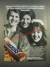 1986 Snickers Candy Bar Ad - After School It's Always: I'm Hungry, Mom