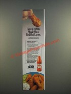 1986 Durkee RedHot Sauce Ad - Original Buffalo Chicken Wings Recipe