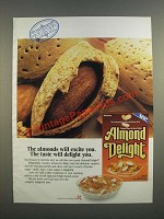 1986 Ralston Almond Delight Cereal Ad - The Taste Will Delight You