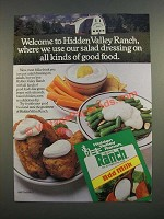 1986 Hidden Valley Ranch Dressing Mix Ad - Good Food