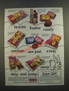 1986 Brach's Candy Ad - Easter Candy Savings Are Just a Hop, Skip, and Jump Away