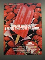 1986 Weight Watchers Fruit Juice Bar Ad - Breaks The Taste Barrier
