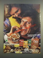 1986 Post Fruit & Fibre Cereal Ad - A Real Mountain Mix