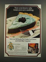 1986 Pillsbury Pie Crusts, La Crme & Irish Mist Ad - Shamrock Silk Pie recipe
