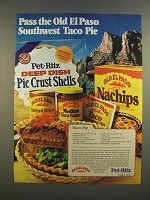 1986 Old El Paso Ad - Taco Pie recipe - Pass the Old El Paso