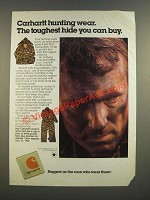 1986 Carhartt Hunting Wear Ad - The Toughest Hide You Can Buy