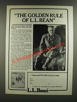 1986 L.L. Bean Ad  - The Golden Rule of L.L. Bean