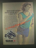 1986 Reebok GL 5000, DL 5600 and LC 3000 Running Shoes Ad