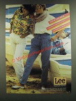1986 Lee Super Soft Denim Pleated Yoke Pants and London Rider Ad