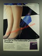 1986 Hanes Fitting Pretty Pantyhose Ad - When You're Fitting Pretty, It Shows