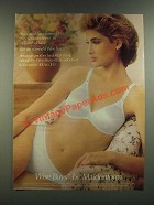 1986 Maidenform Wise Buys Bra Ad - Could Have Named it Satiny Smoothness