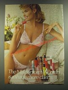 1986 Maidenform Sweet Nothings Front Close Bra and Strink Bikini Ad