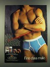 1986 Fruit of the Loom Fashion Underwear Ad - First-Class Male