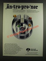 1986 Rockwell International Ad - An-Tre-Pre-'ner Entrepreneur