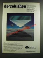 1986 Rockwell International Ad - de-'rek-shen Direction