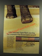 1986 Sears Mohawk Super Plush Carpet Ad - Doesn't Tiptoe Around