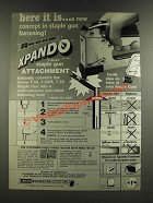 1986 Arrow Xpando T-50XP Staple Gun Attachment Ad - Here It Is