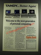 1986 Radio Shack Tandy 1000 EX, 1000 SX, 3000 HL and 3000 HD Computers Ad