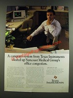 1986 Texas Instruments Computer System Ad - Suncoast Medical Group