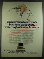 1986 Data General Computers Ad - You Won't Win Tomorrow's Business Battles
