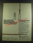 1986 New York Telephone Ad - Why Wait For The Digital Future