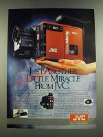 1986 JVC Mini VideoMovie Camera Ad - Just Another Little Miracle