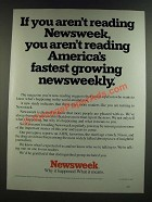 1986 Newsweek Magazine Ad - If You Aren't Reading