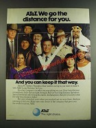 1986 AT&T Long Distance Service Ad - We Go The Distance For You