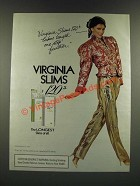 1986 Virginia Slims Cigarettes Ad - 120's takes length one step further