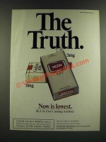 1986 Now Cigarettes Ad - The Truth