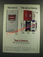 1986 Now Cigarettes Ad - The Lowest