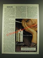 1986 Eve 120's Cigarettes Ad - Every Inch a Lady