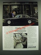 1986 Jaguar Vanden Plas Ad - A Fitting Tribute to Coachmaker's Art
