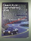 1986 Volkswagen Jetta GLI Ad - Give in To An Overwhelming Drive