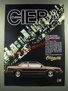 1986 Oldsmobile Cutlass Ciera Coupe Ad - Turn the Nighttime Upside Down