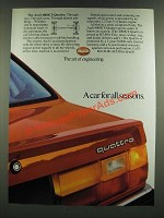 1986 Audi 4000CS Quattro Ad - A Car for All Seasons