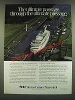 1986 Princess Cruise Ad - The Ultimate Passage Through The Ultimate Passage