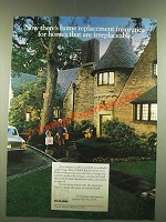 1986 Chubb Insurance Ad - Homes That Are Irreplaceable