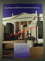 1986 Chubb Insurance Ad - Some Homes Should Never Be Insured Over the Phone