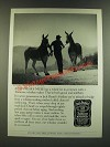 1986 Jack Daniel's Whiskey Ad - A Tennessee Mule