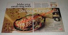 1986 American Dairy Association Ad - Hungarian Baked Chicken Recipe