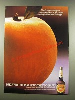 1986 DeKuyper Peachtree Schnapps Ad - Fat, Juicy Peach