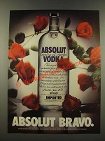1986 Absolut Vodka Ad - Absolut Bravo