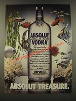 1986 Absolut Vodka Ad - Absolut Treasure